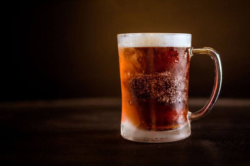 A tankard of non-alcoholic (ginger beer) grog